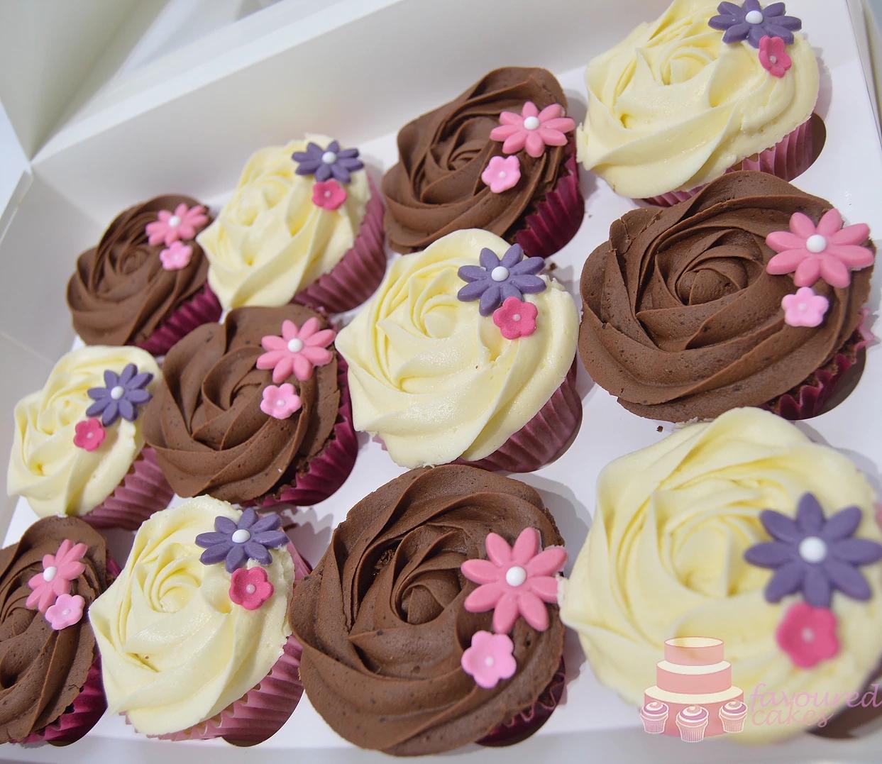 Blossom Rosette Cupcakes