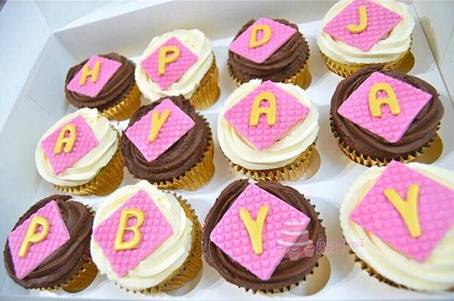 HAPPY BDAY Birthday Cupcakes