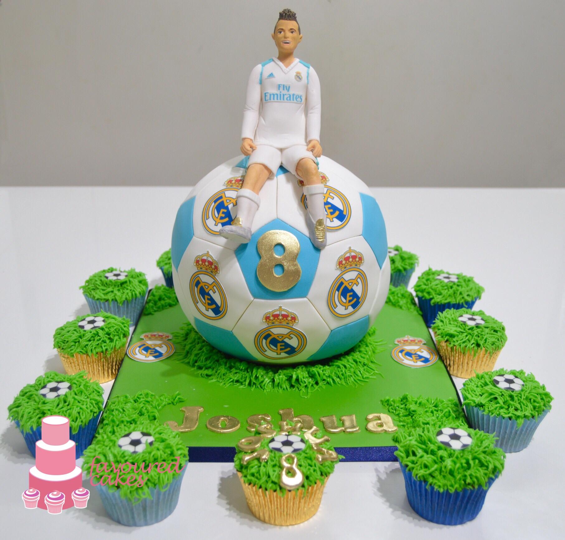 Real Madrid Ronaldo Football Cake