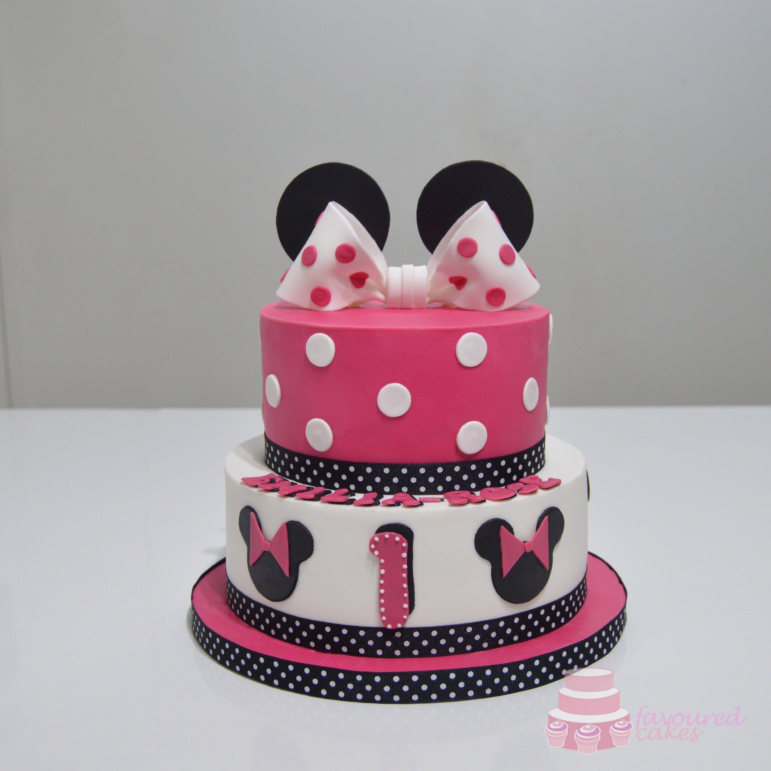 Fuschia Pink Minnie Cake