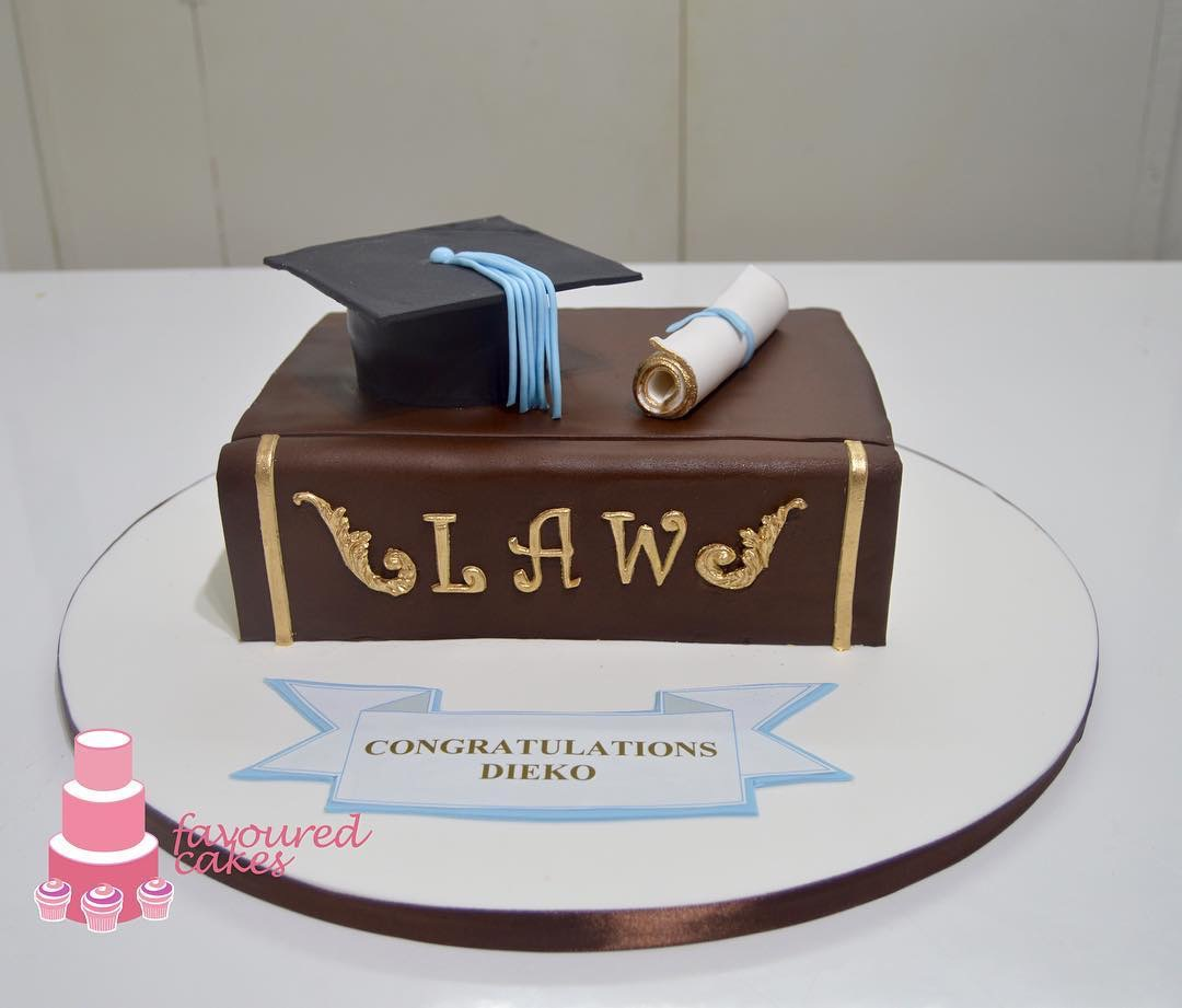 Law Book & Mortar Cake