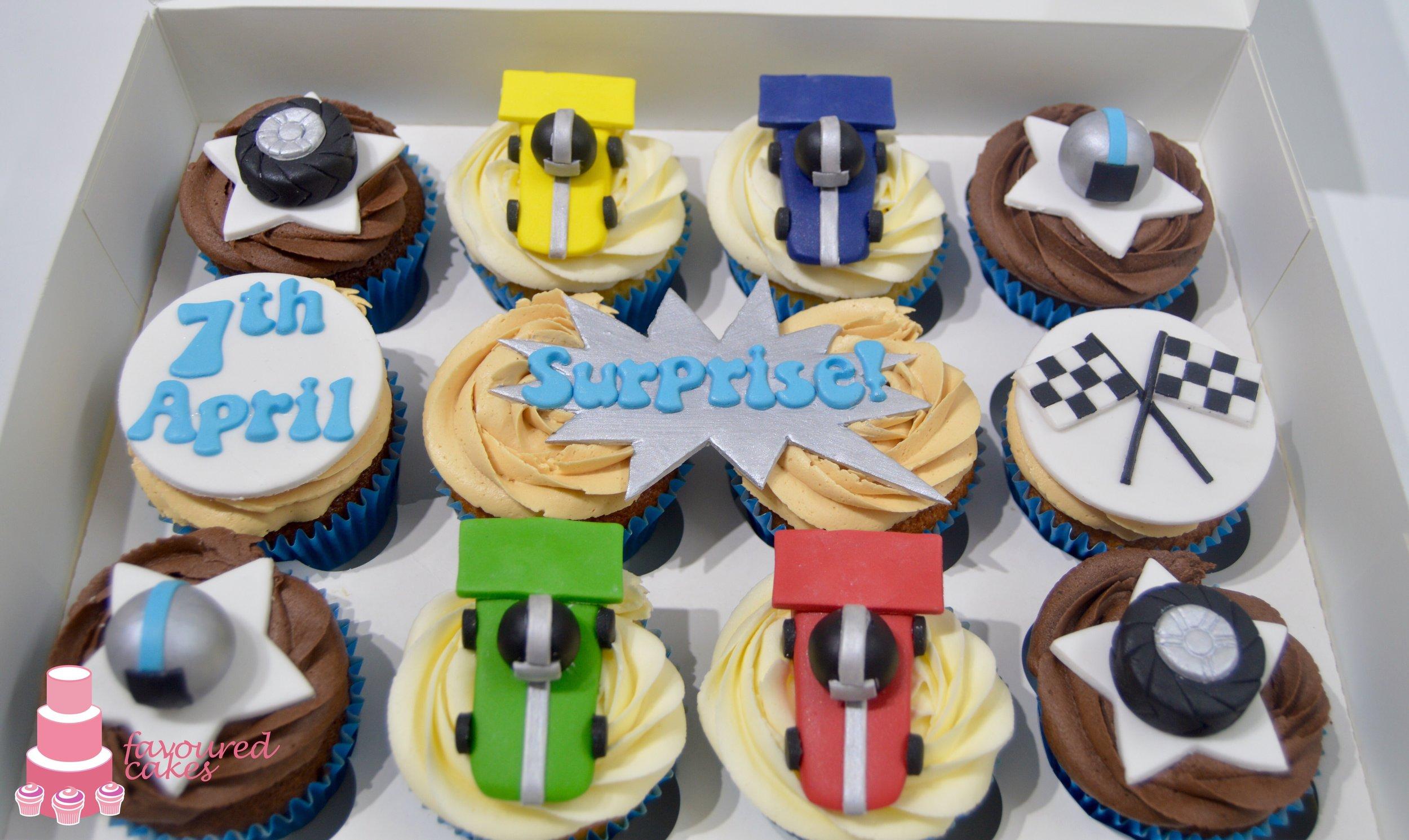 Go-Kart Cupcakes