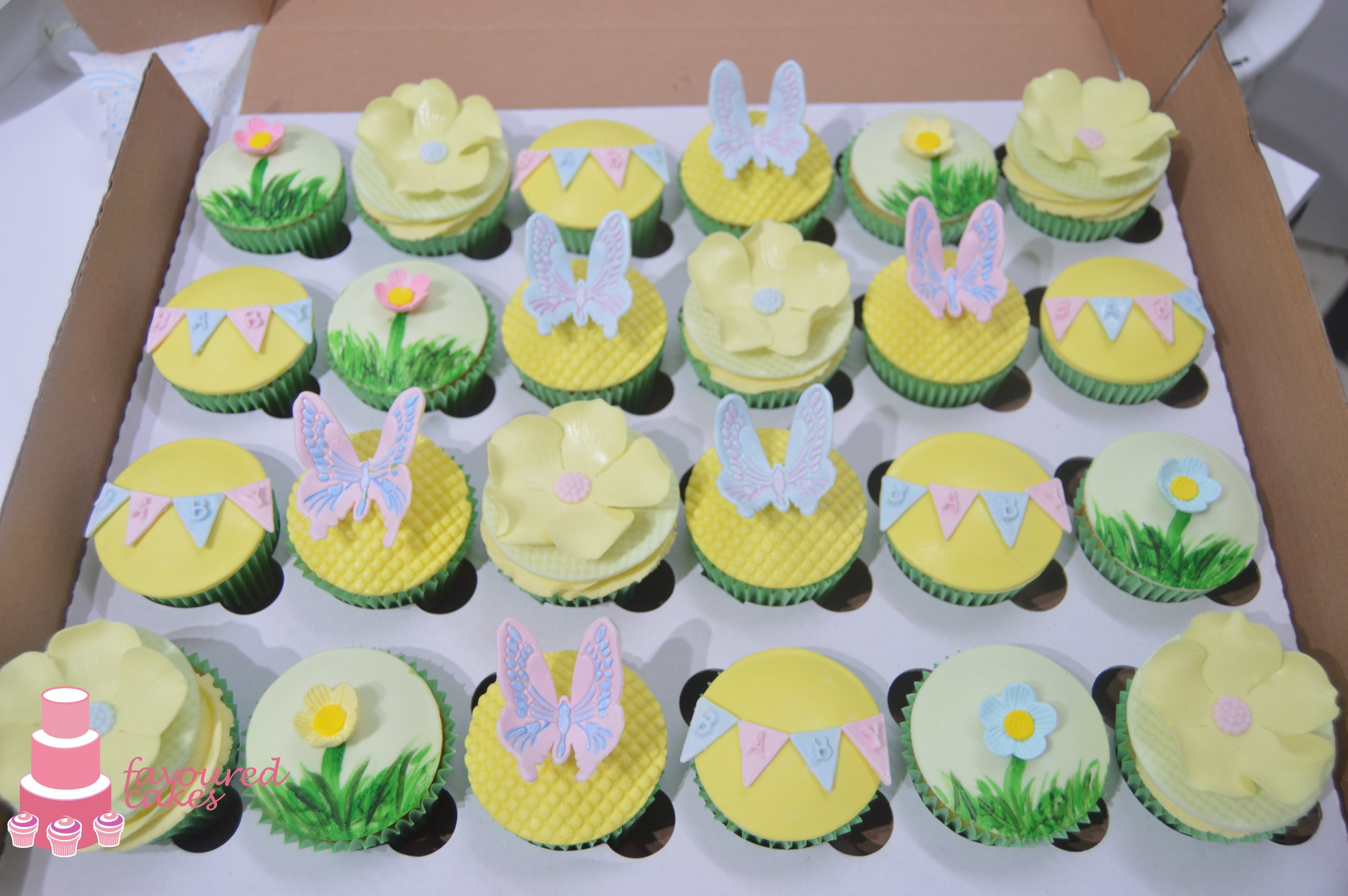 Spring Baby Shower Cupcakes