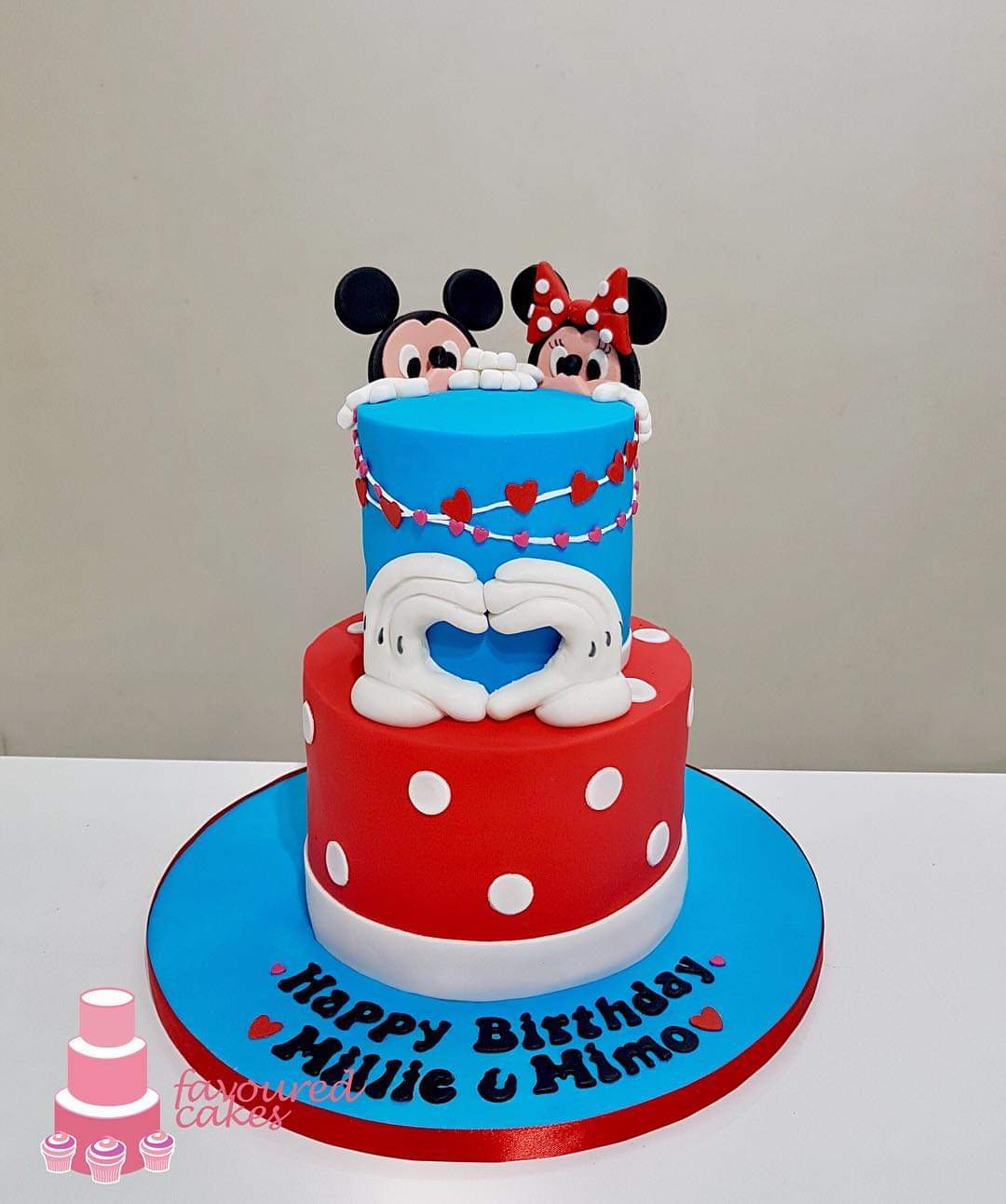 Minnie & Micky Love Cake