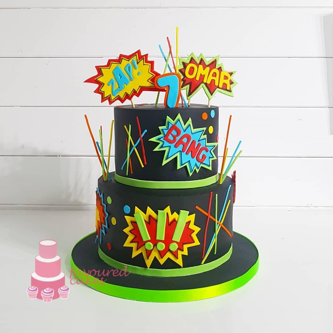 Laser Tag Cake