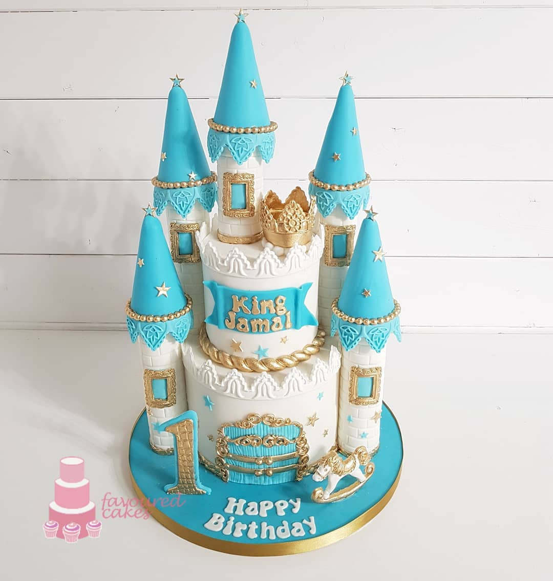 Boy Castle Cake