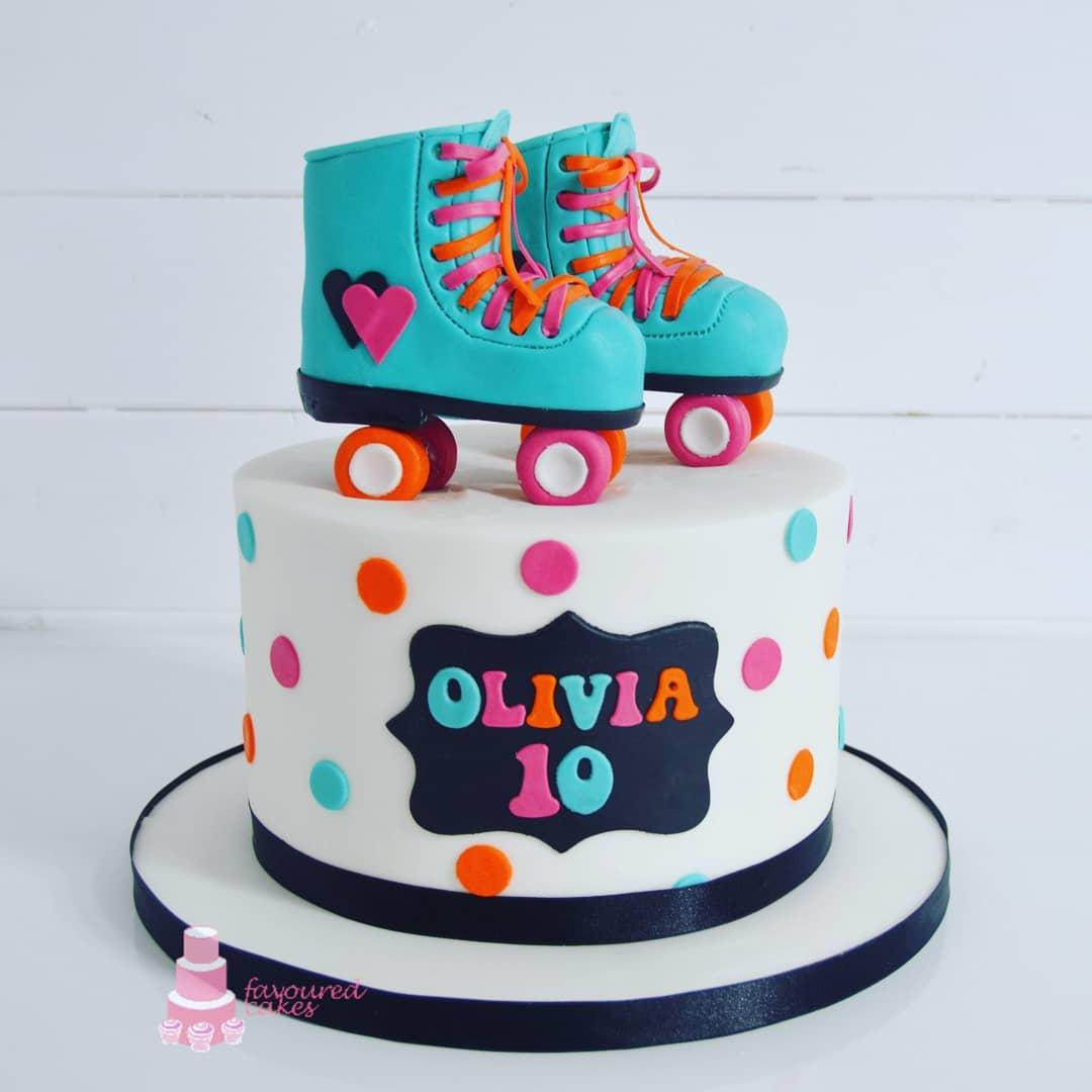 Roller Skates Cake