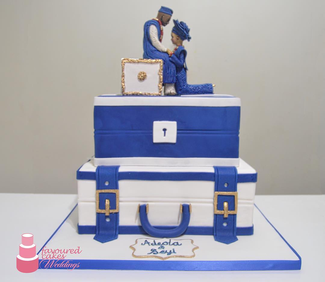 SCBW African Wedding Engagement Cake