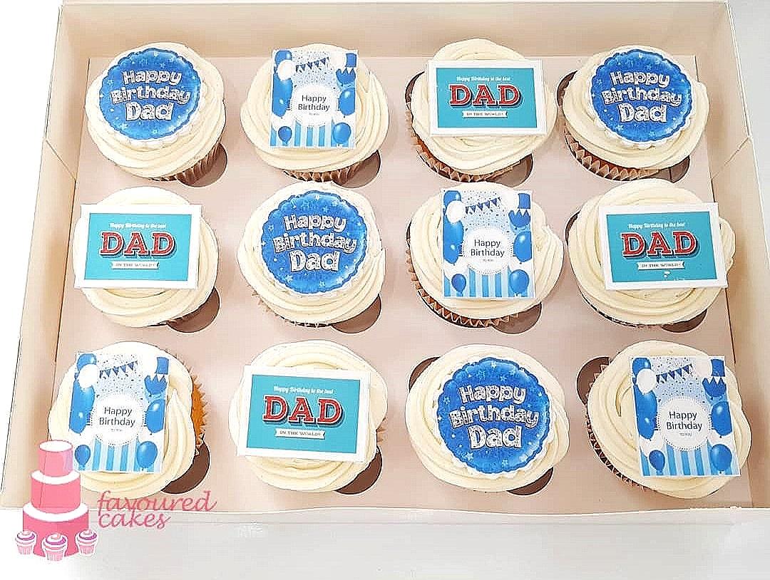 Happy Birthday Dad Cupcakes