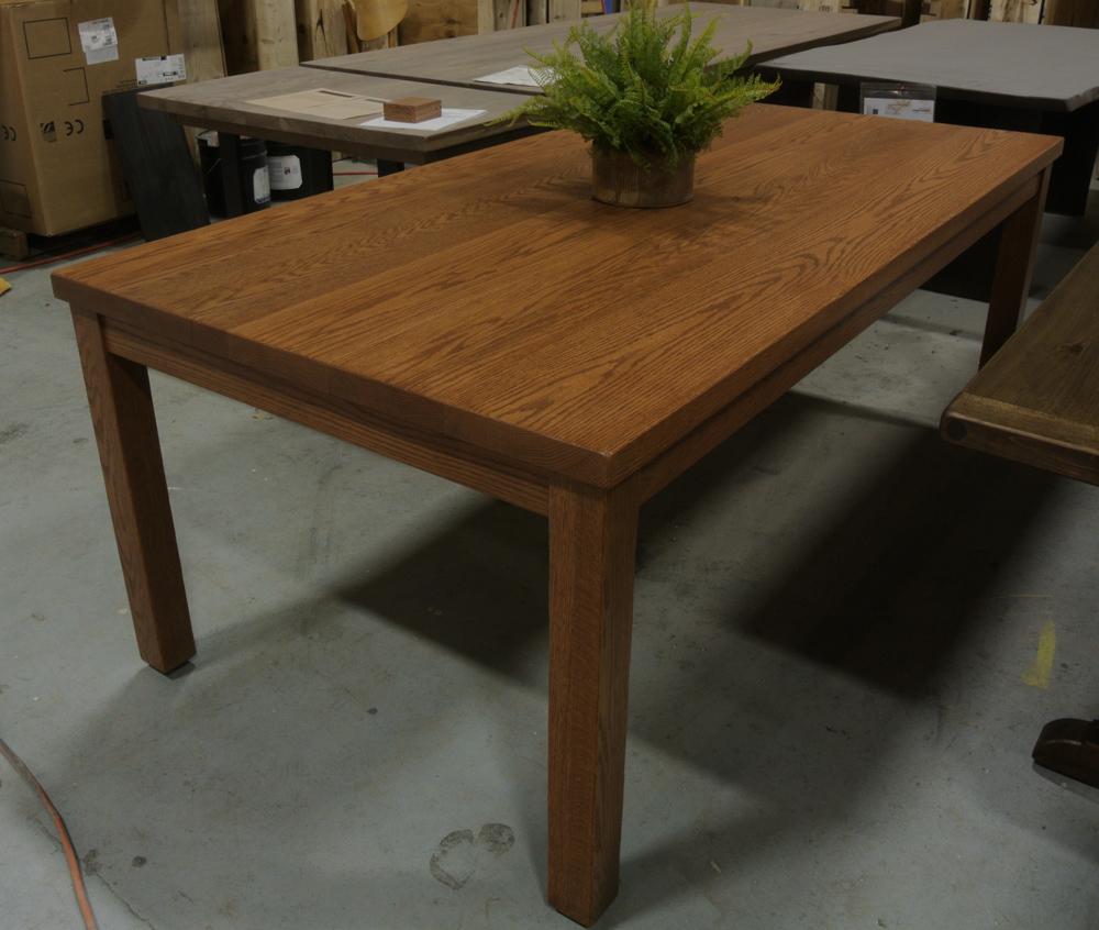 Oak Parsons Table. Dark Early American stain.
