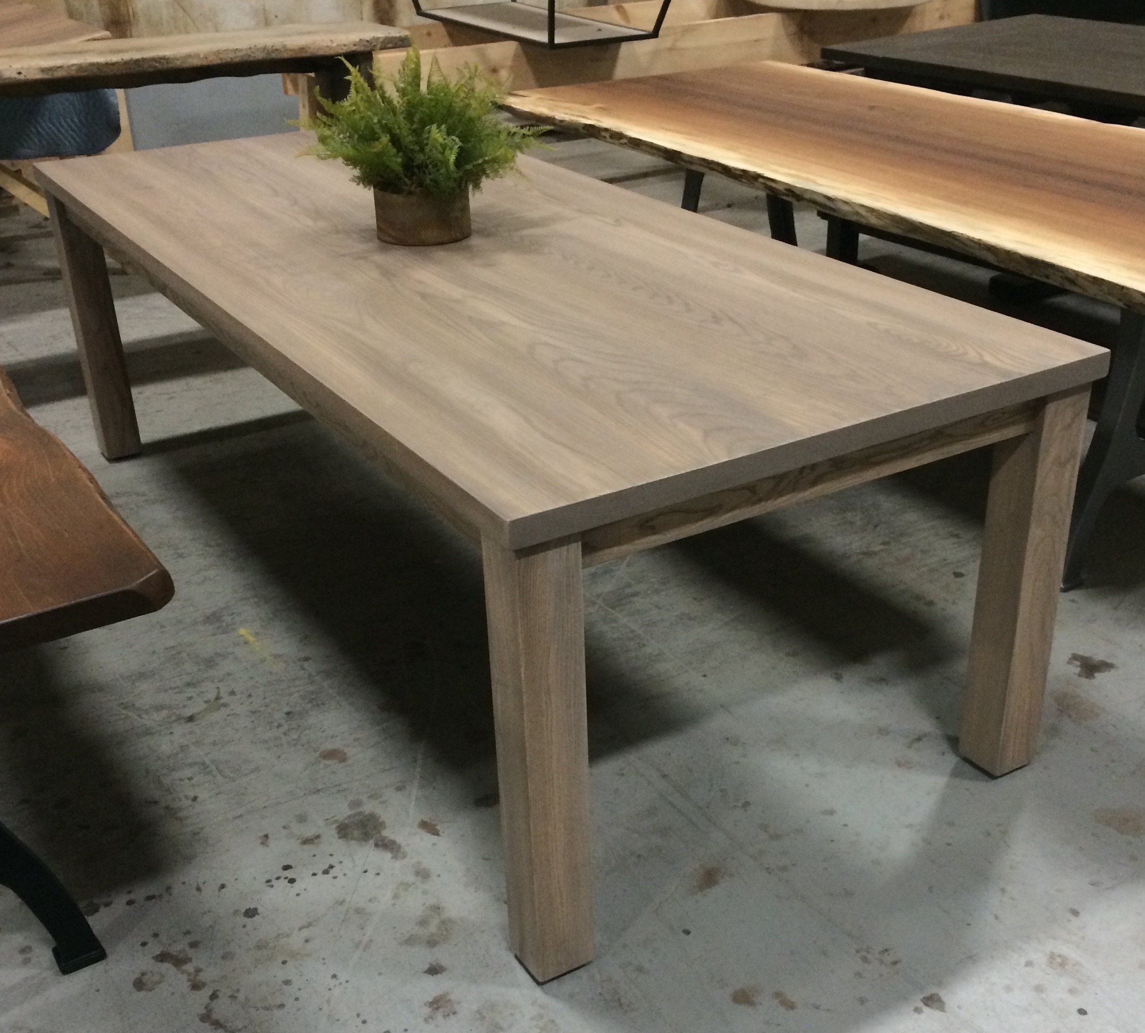 Ash Parsons Table with a Wisteria Stain.