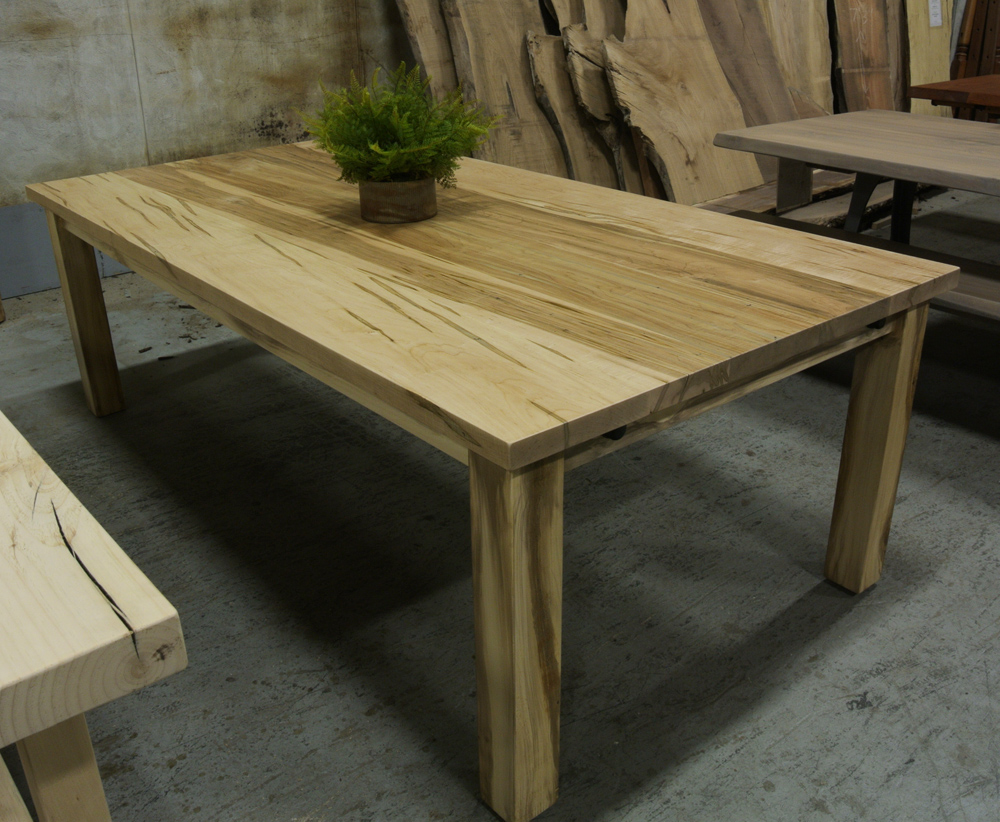 Parsons Table made from Wormy Maple (Ambrosia Maple).