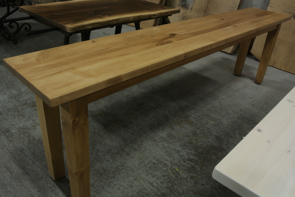 Pine Console with Tapered Legs.