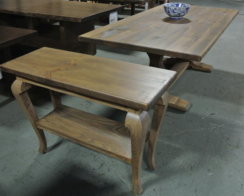 Custom Pine Console with Wisteria Stain.