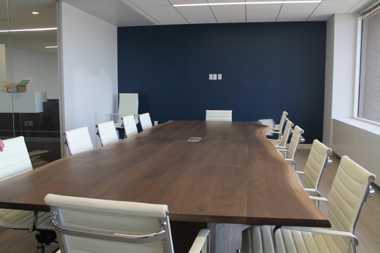 Massive Walnut Conference Table