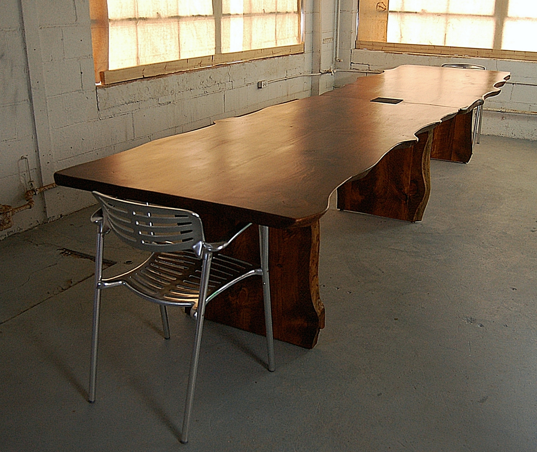 Large Pine Live Edge Conference Table