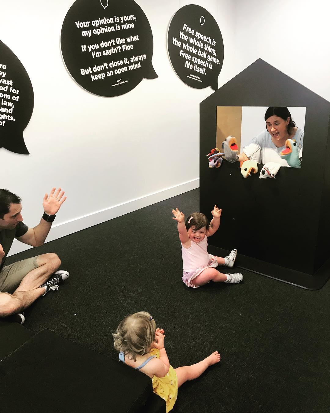 "Best Puppet Show in town. At ""PlayUP – The Right to Have an Opinion and Be Heard"", at the Museum of Australian Democracy, Old Parliament House Canberra. Loads of interactive rooms for play exploring the United Nations Convention on the Rights of a Child."