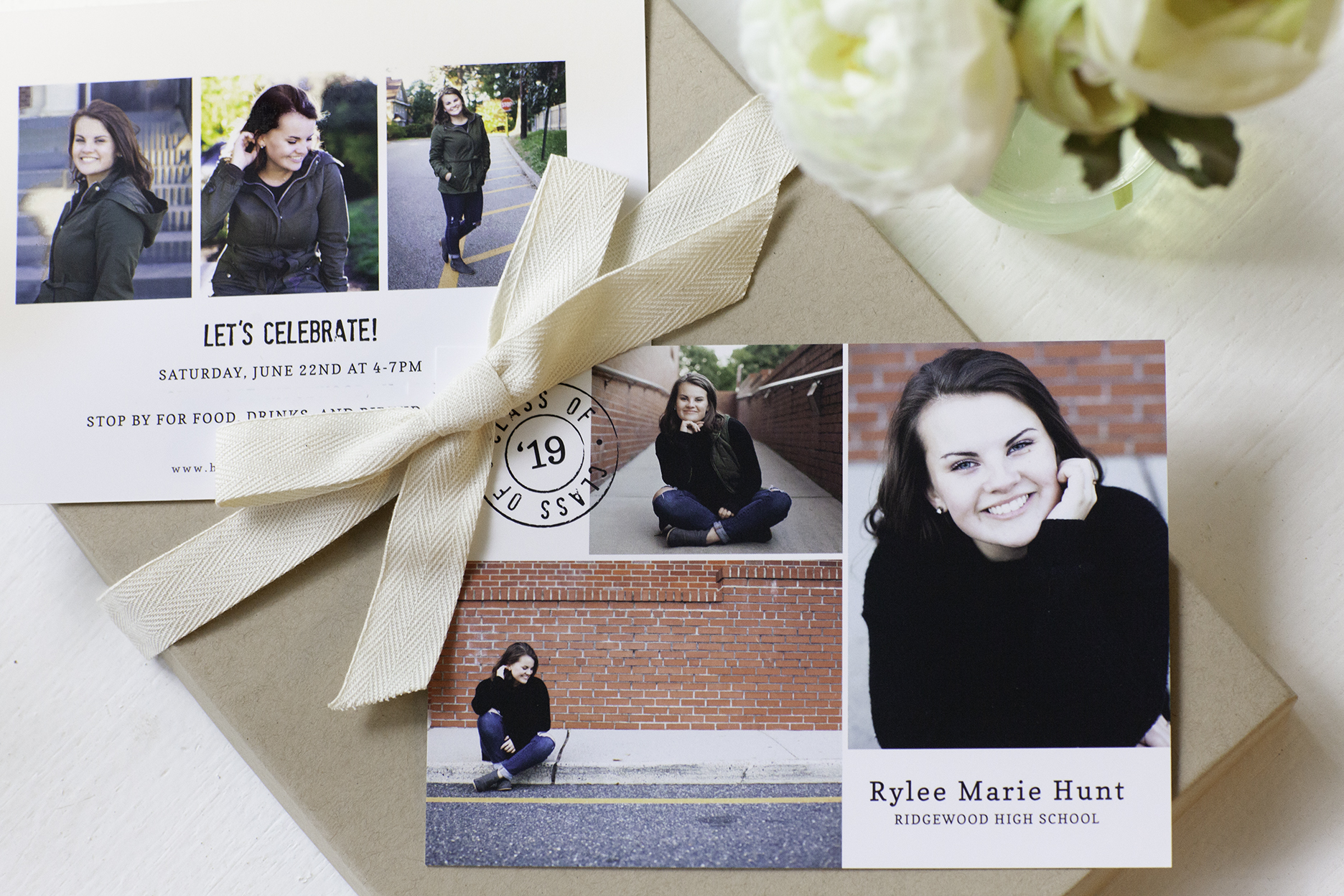 custom grad announcements - Premium double sided boutique cards - available in packages below…