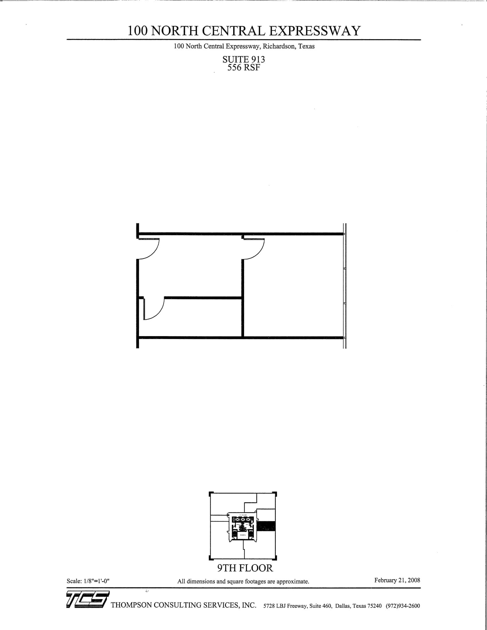 100 N Central - Suite 913 - As-built-1