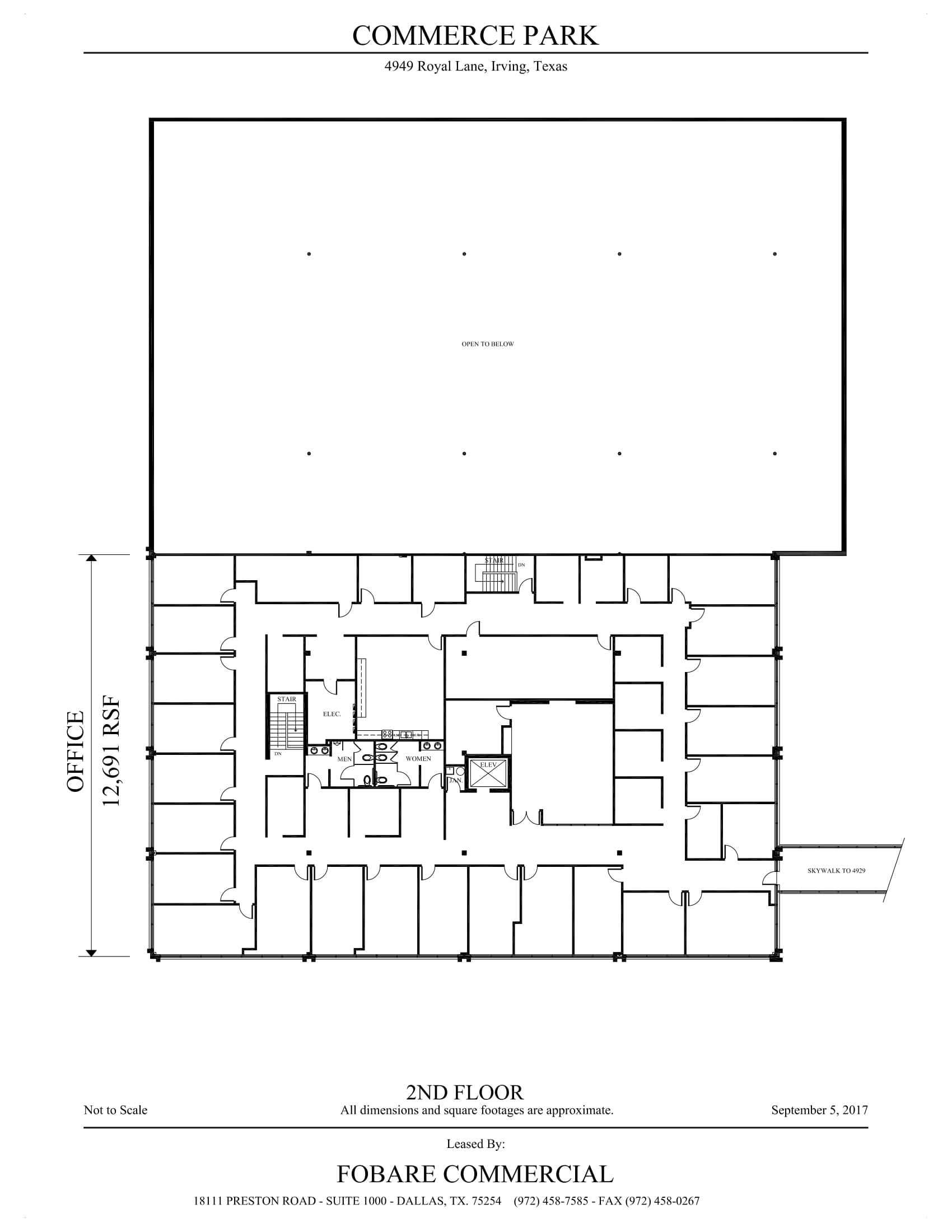 4949 Royal Lane - Commerce - 2nd Floor - SF Calc-1