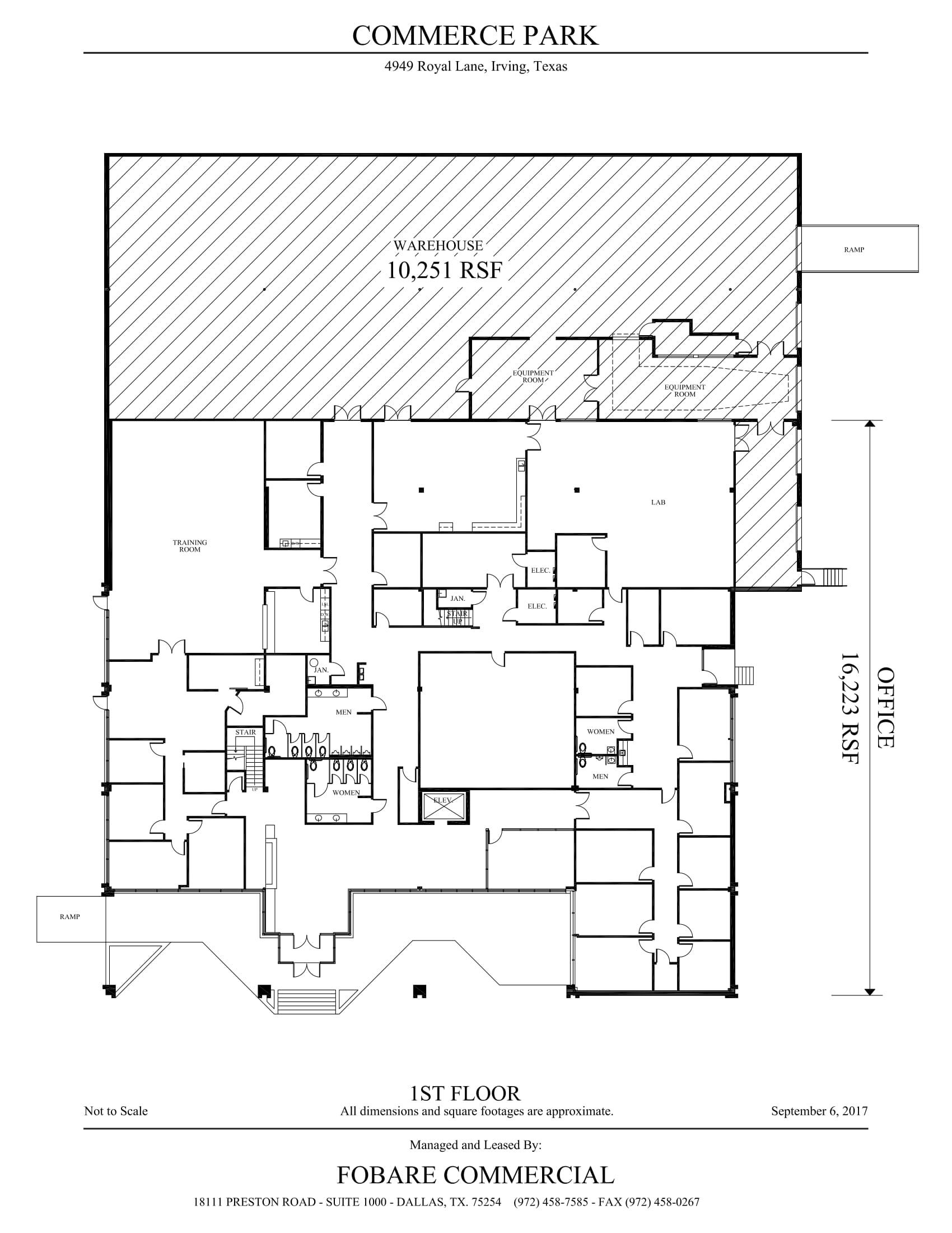4949 Royal Lane - Commerce - 1st Floor - SF Calc (9-6-17)-1