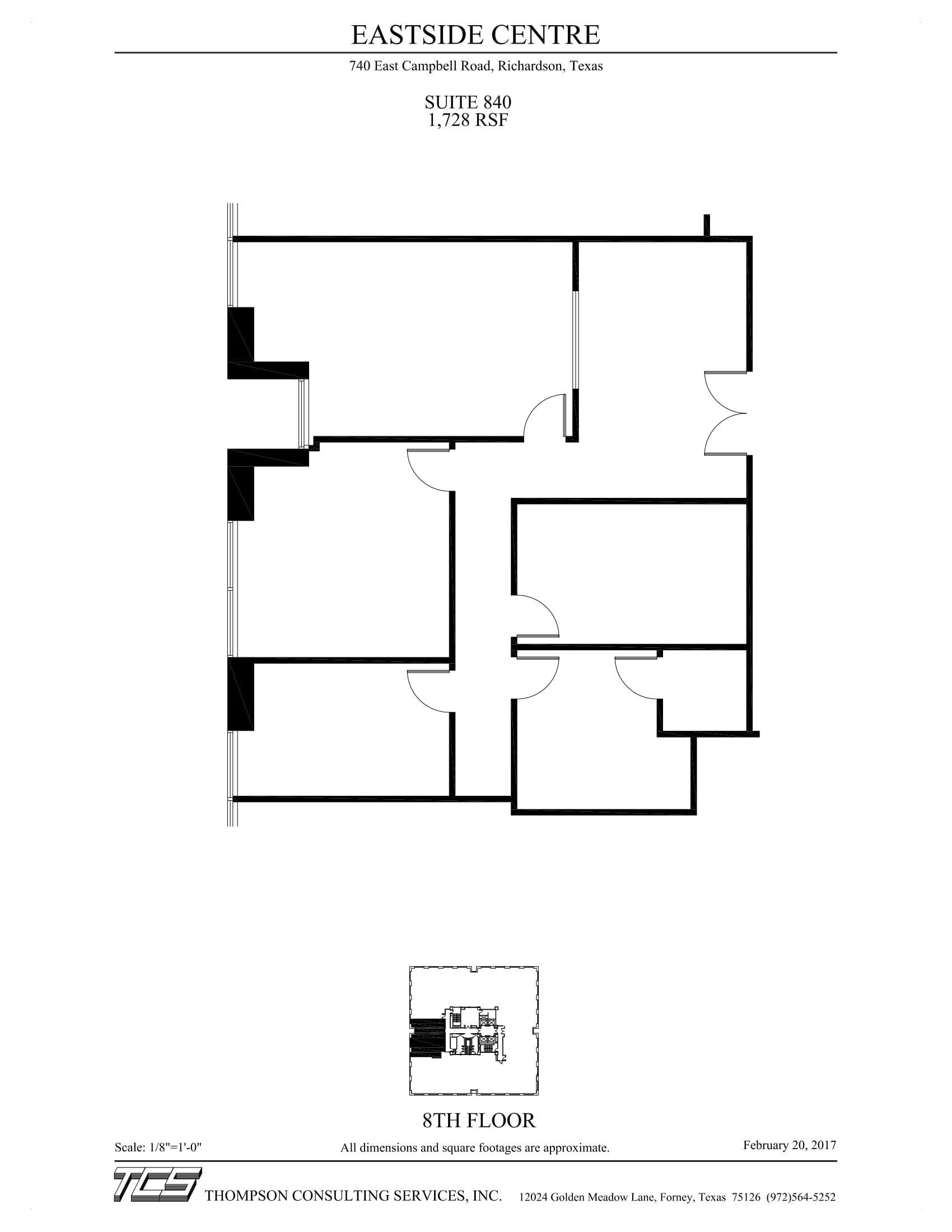 Eastside Centre - Suite 840 - As-Built-1