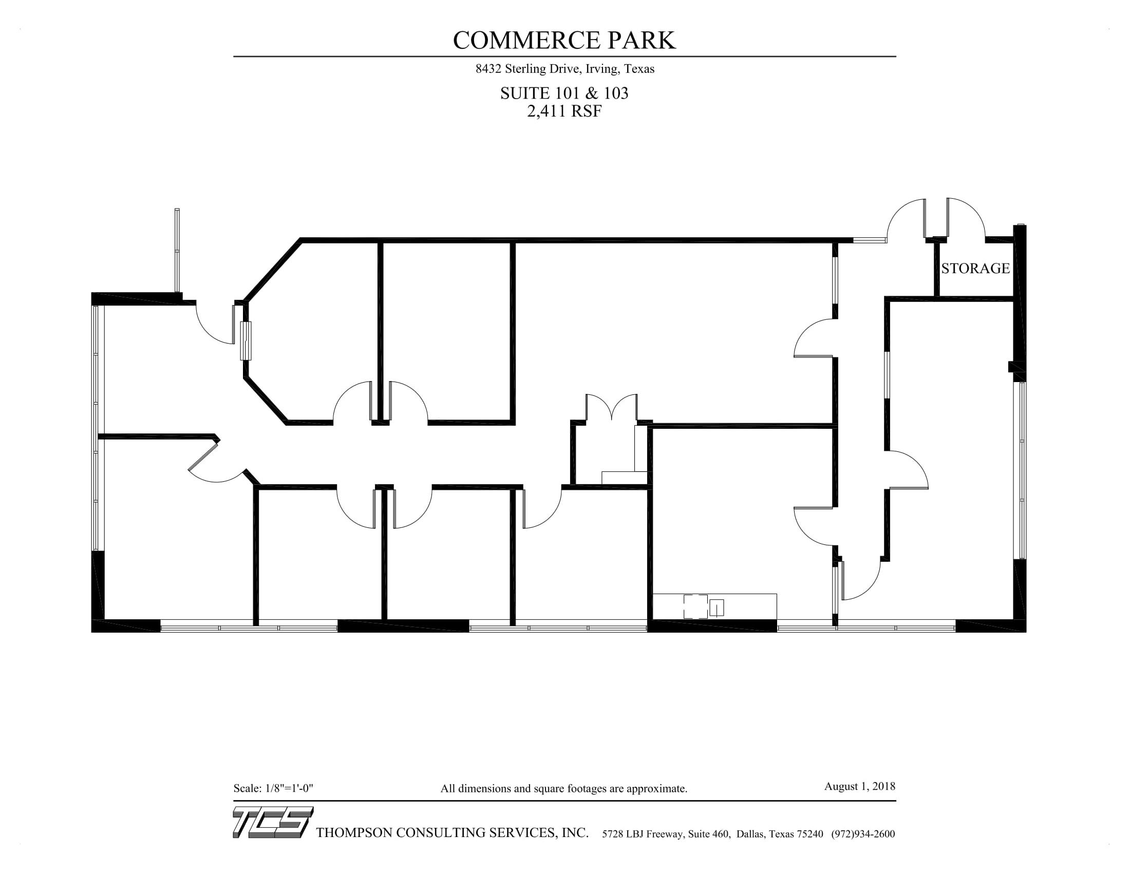 Commerce Park - 8432 Sterling - Suite 101 & 103 - Marketing Plan (8-1-18)-1