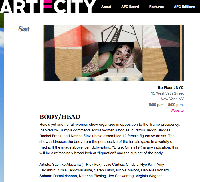 Early press for BODY/HEAD