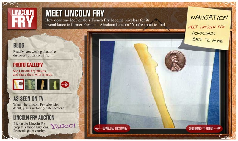 """""""Lincoln Fry"""" Website"""