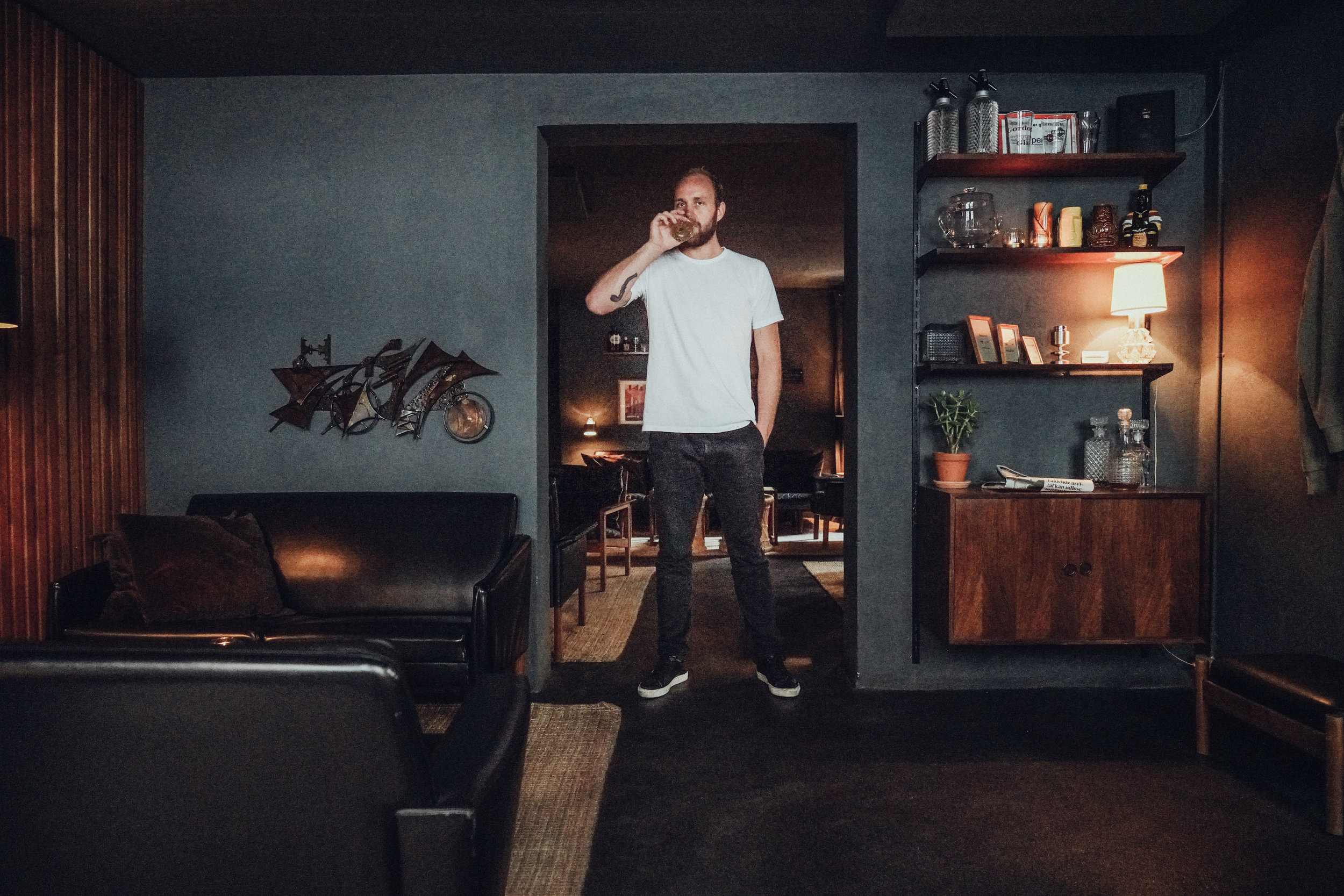 Kasper Riewe Henriksen portrait drinking