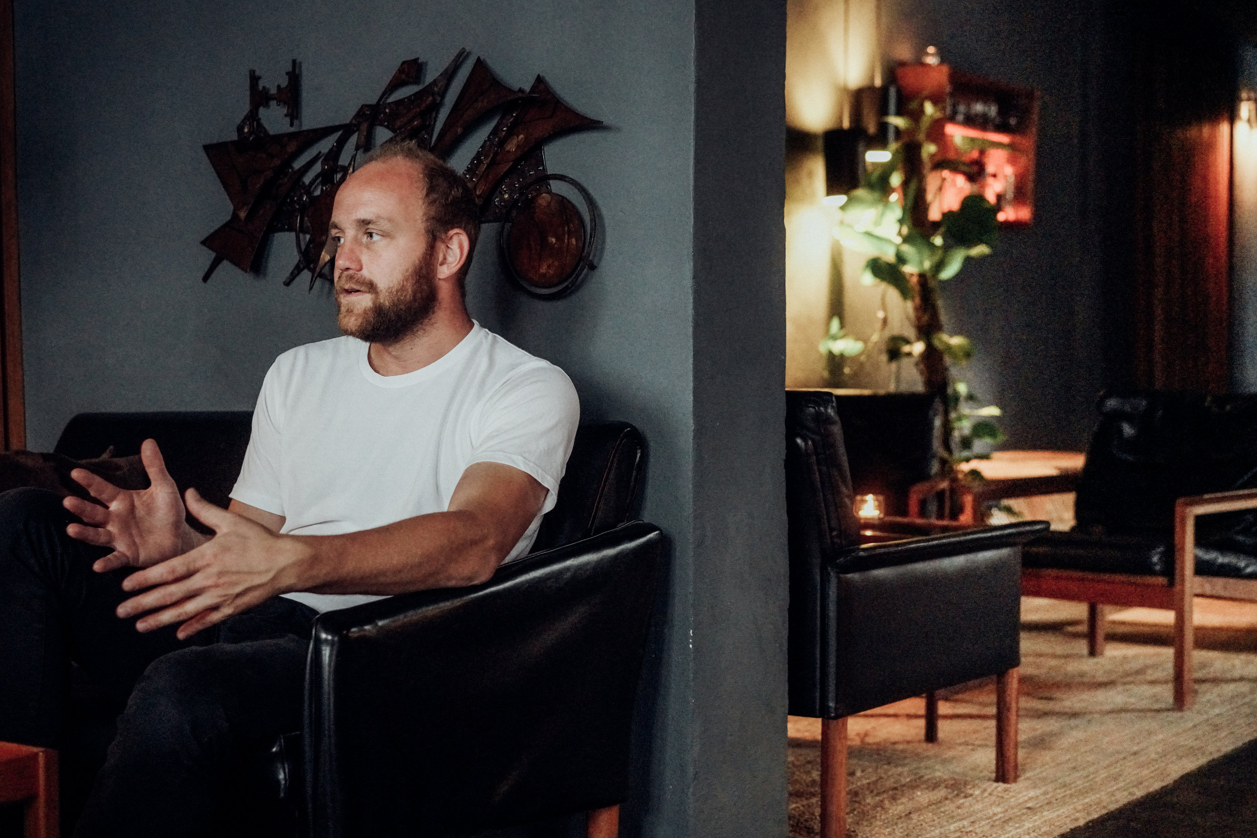 Kasper Riewe Henriksen talking about cocktails