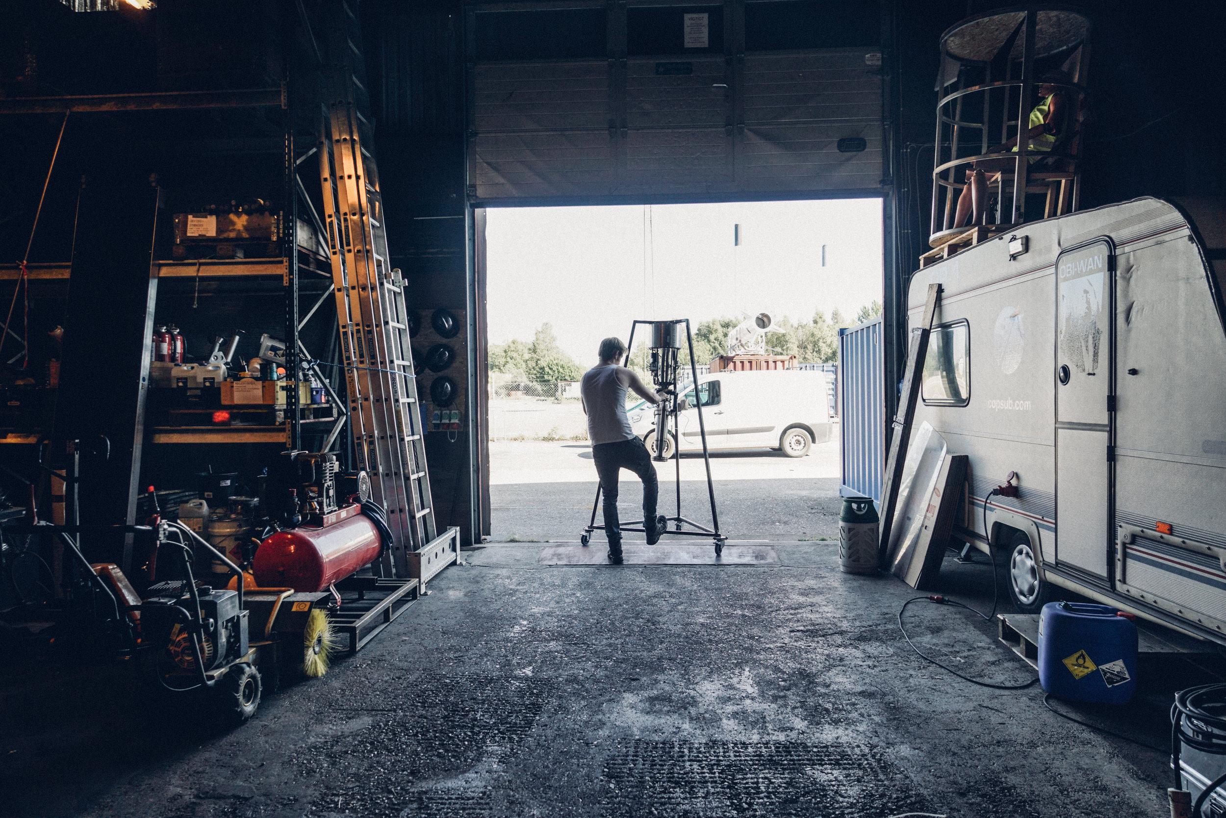 Copenhagen Suborbitals warehouse