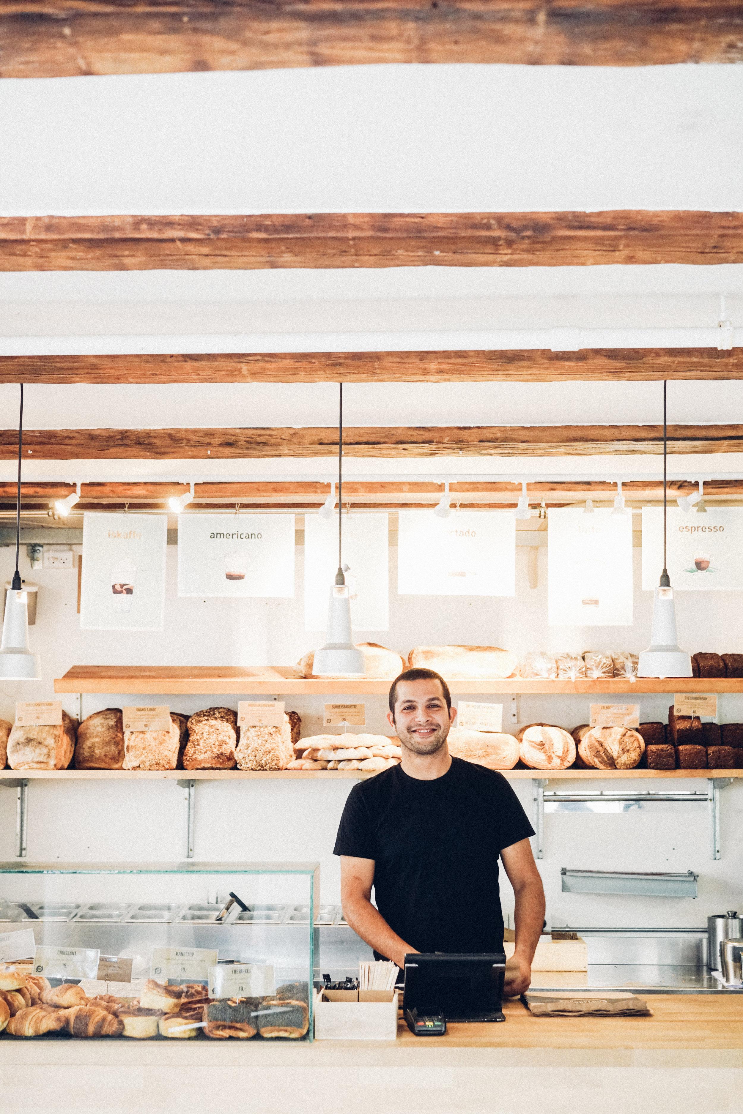 Martin Daniali behind the counter