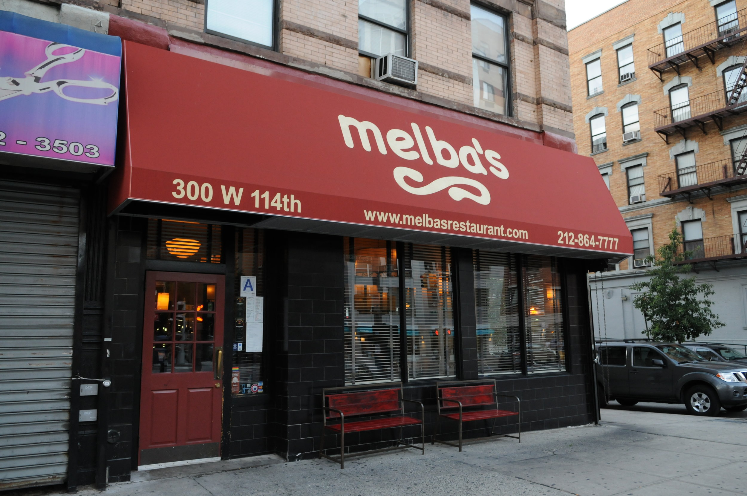 Photo: Rosemary Santos / Outside Melba's restaurant