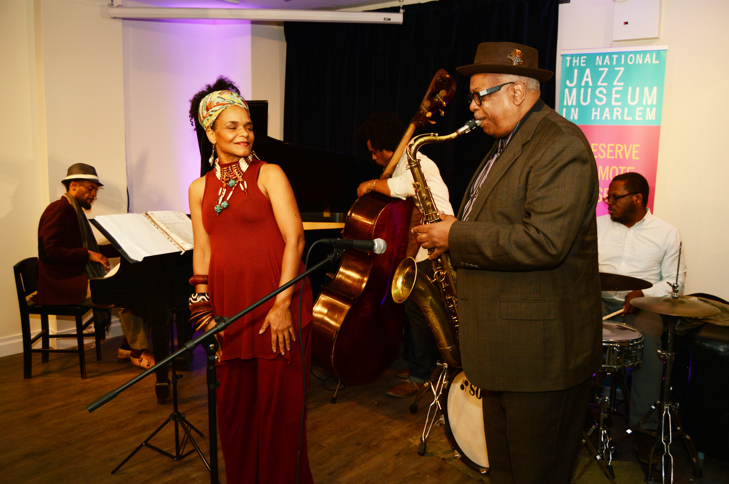 PHOTO: National Jazz Museum in Harlem Opening Celebration with Bill Saxton Singer and Terri Davis / Photo: Richard Conde