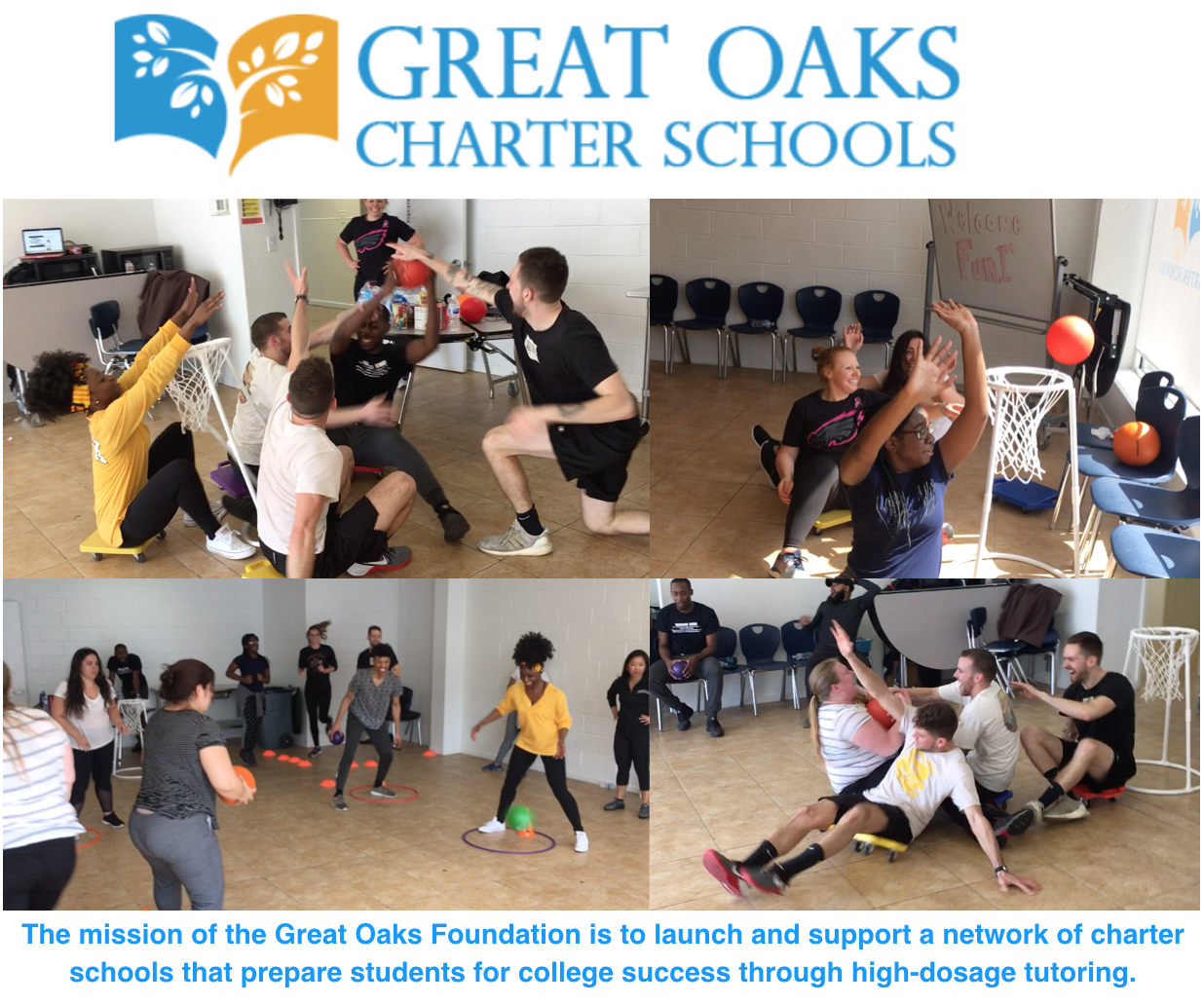 "Shout Out to Great Oaks Community Charter For a Fun ""PD"" Day - Thank you Great Oaks for letting us host a fun professional development day. Great Oaks believes that high quality teachers and leaders are key to student success. We are more than honored to get your teachers moving."