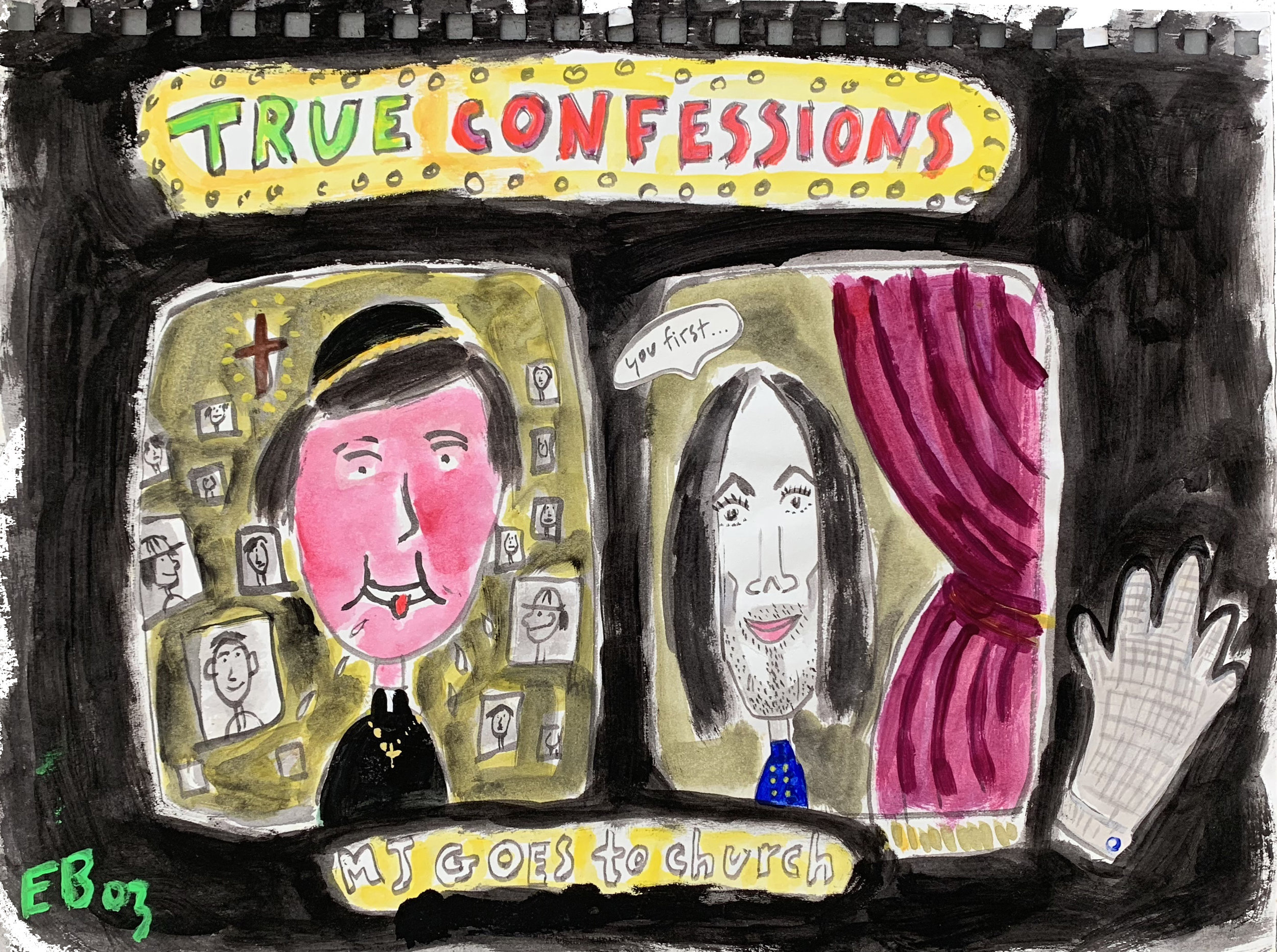"True Confessions  8.5 x 11"" sketchbook paper"
