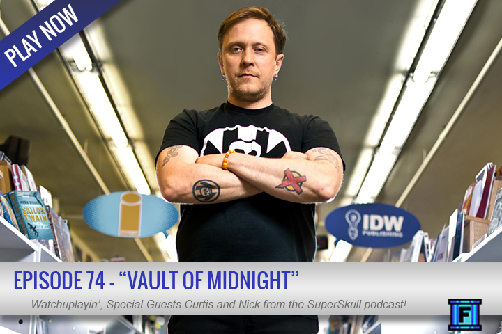 Summary - This week, the guys were joined by Curtis and Nick, not only of the Super Skull Show fame, but the VAULT OF MIDNIGHT! If you are in the Ann Arbor or Grand Rapids area, you need to hit up the shop! Anywho, we had a great Q&A about comics, the store, and the