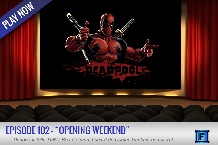 Summary - We watched a movie opening weekend! Yes us! The Fluxtaposed Cheapskate Guys!This week, we touch on a kickstarter for a TMNT board game, share the games/movies we've been enjoying, and of course spend a little time, talking about Deadpool. Have you seen it?REMINDER: Next week we will be discussing