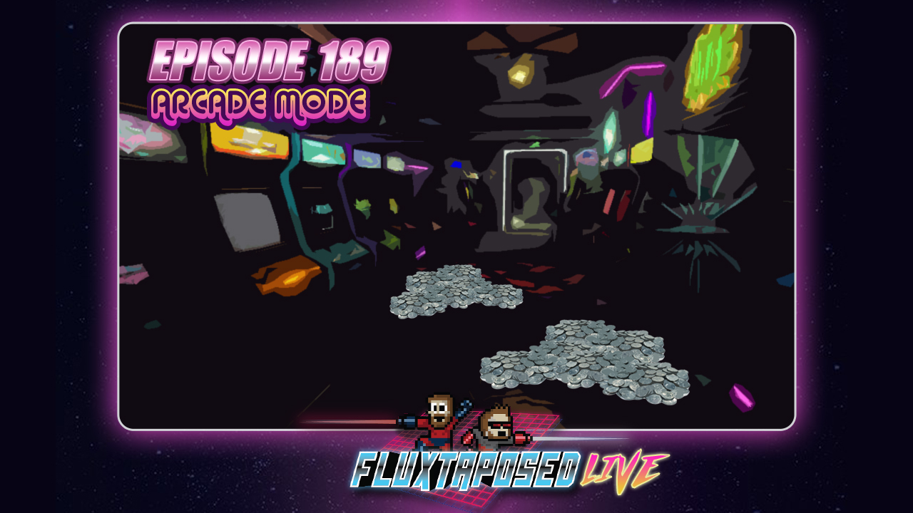 Summary - Welcome back to Fluxtaposed, episode 189 recorded LIVE on Dec 5th, 2017. On the docket today - IRL, get caught up on Whatchuplayin' featuring Hyper Light Drifting and Baby Bosses A top 3 discussion on our favorite arcade games of ALL TIME. Finally, we will close out the show with the community grab bag and that sweet, sweet, awkward finish. Thanks for listening, thanks for watching, and enjoy the show!