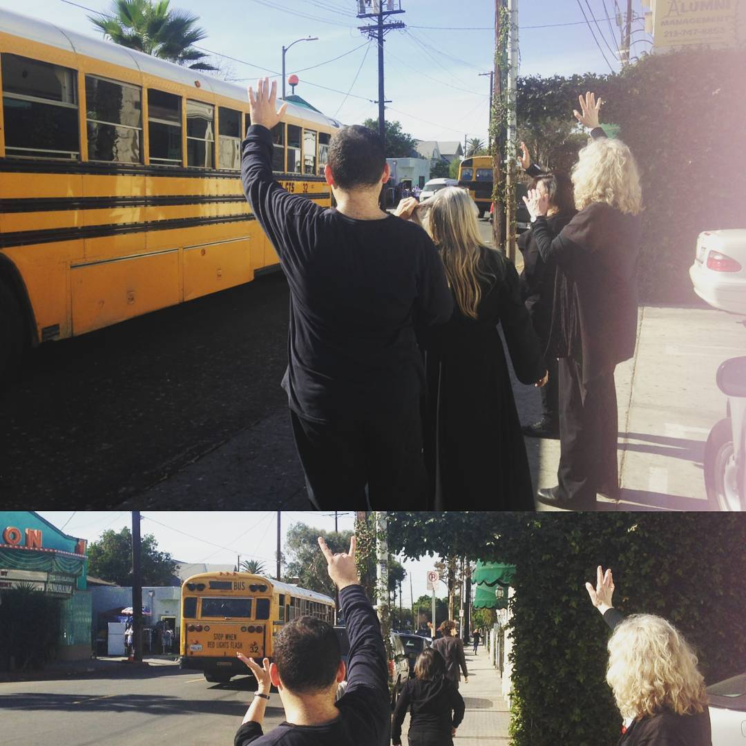 11:30 AM - Our Artists wave off the buses and say goodbye to students, now bubbling with the magic of live theatre. Watch a teacher's reaction here.