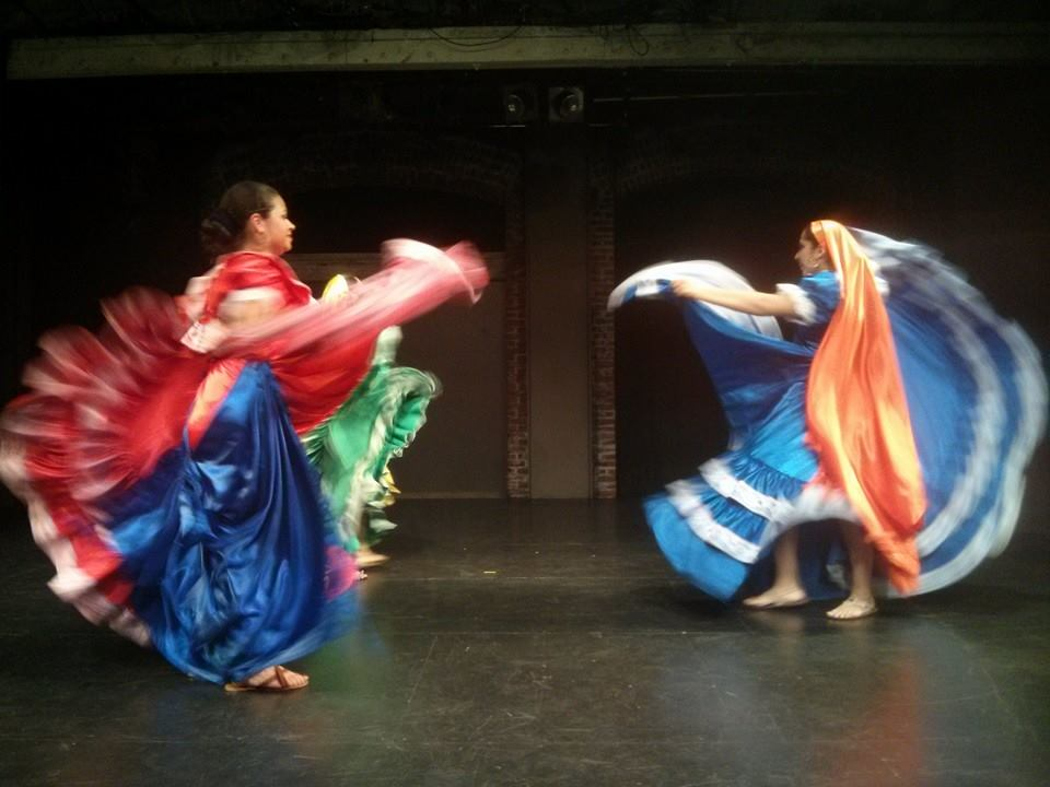 Ballet Folklorico Netjzi Techan - Danzas del Pueblo at a 2015 hosted at 24th ST to honor our relationships with artists in El Salvador.