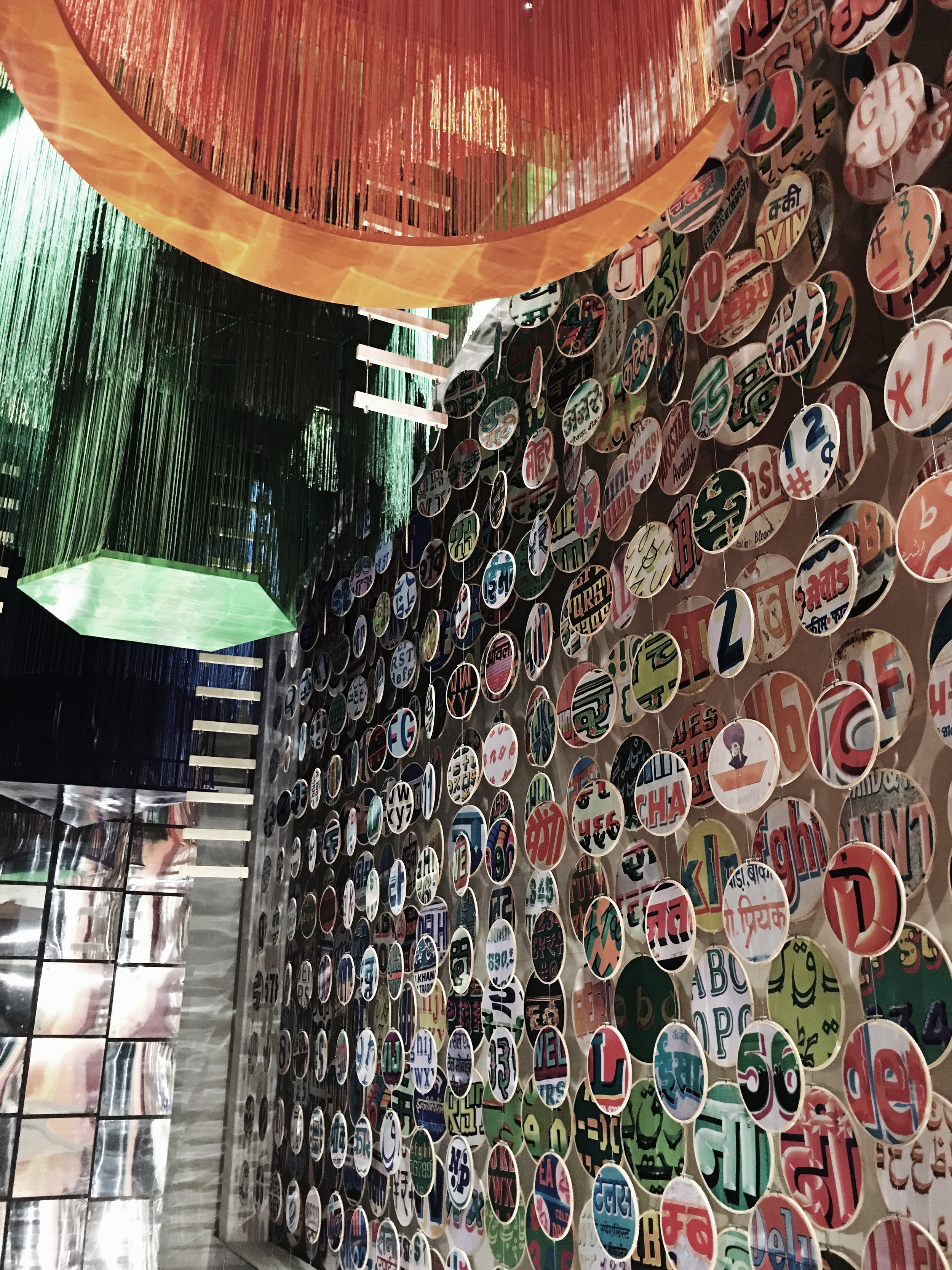 [India, 'Chakraview' designed by Sumant Jayakrishnan]   Installation constructed of circular forms, textiles, and mythology woven together to highlight India's diversity and to highlight the intersection of the ancient and the modern in design.