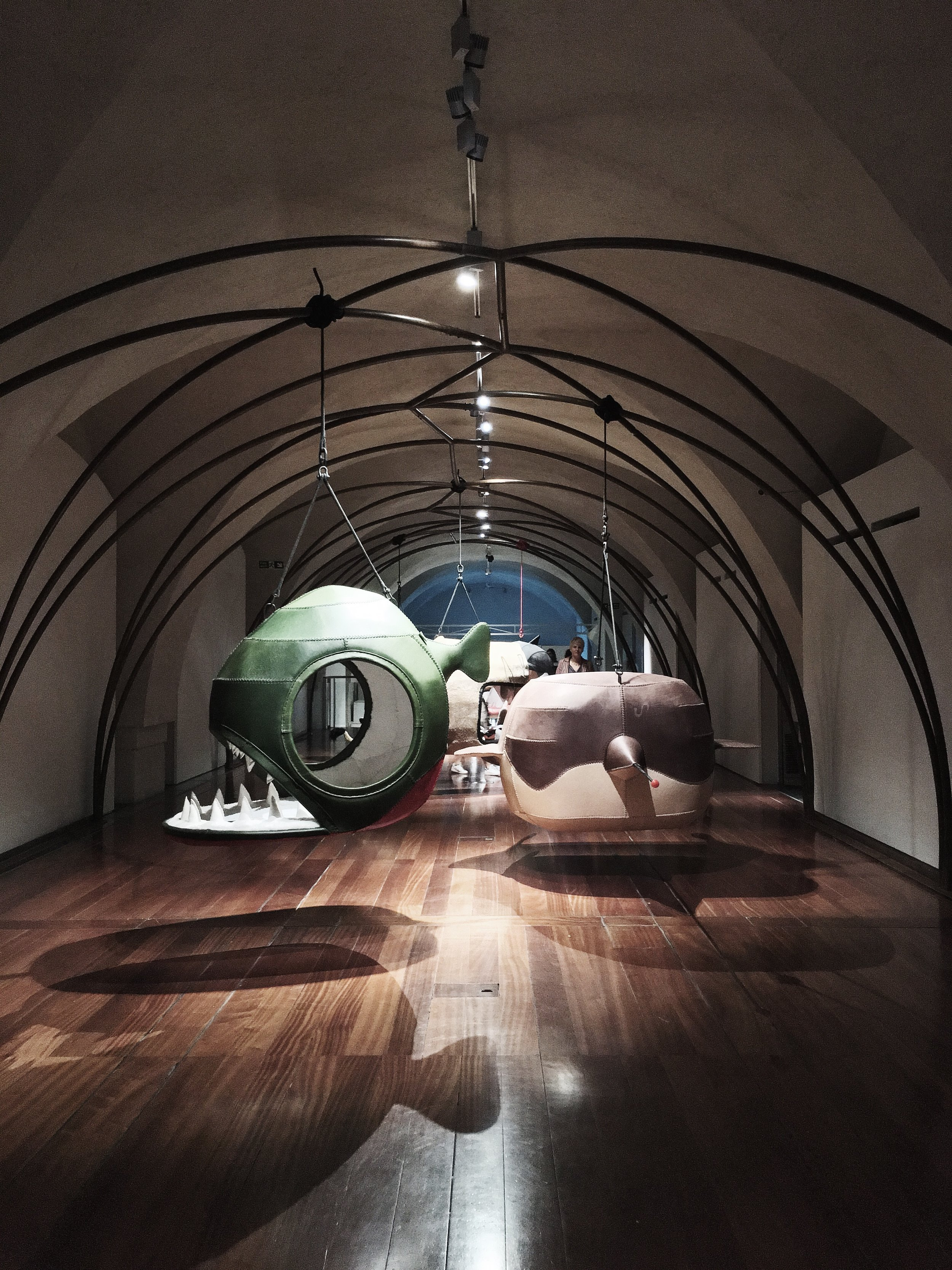 [South Africa, 'Otium and Acedia' designed by Porky Hefer]   Suspended animal nests that celebrate liberation, playfulness, and innocence as a bold statement standing alongside the theme of Utopia, and coming from a country with a complicated and visceral history.
