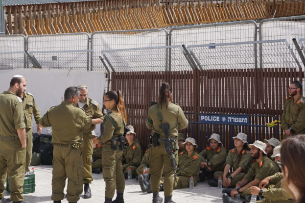Israeli Military at the West Wall in Jerusalem
