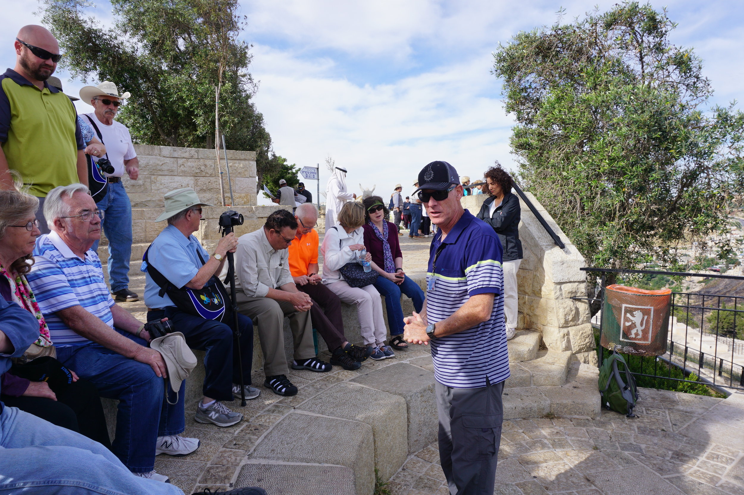 Pilgrimage Tour Group Mount of Olives Jerusalem Israel Guide Roni Simon.JPG