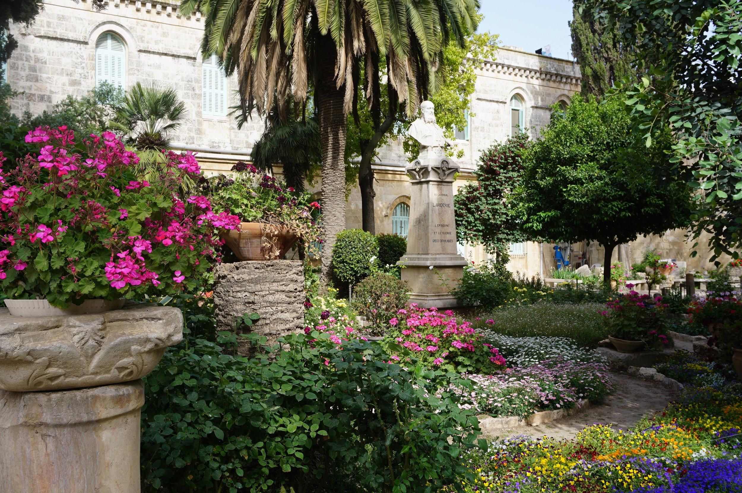 Gardens at Pool of Bethesda.JPG