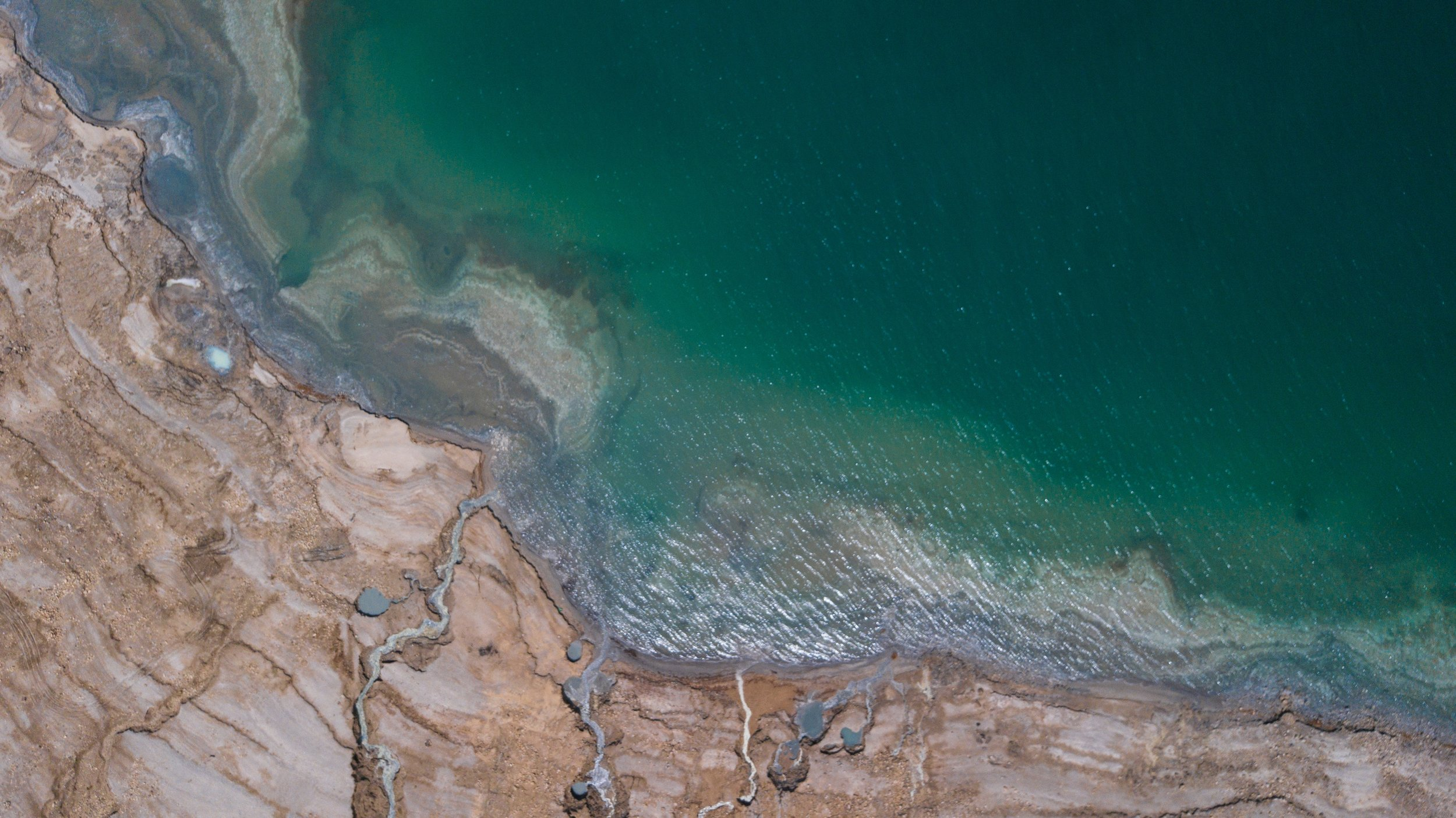 Aerial view of the Dead Sea