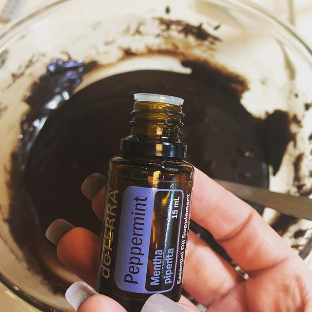 I love chocolate and peppermint!  Just one drop of #doterrapeppermintoil to my gluten free brownie mix and we will have peppermint brownies.