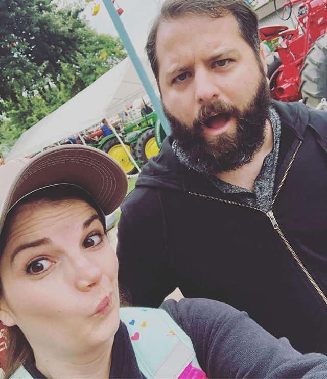 Happy 18th Anniversary my love!! He's my best friend!  So thankful to have the blessing of doing this crazy life with you 💕 (Pic from our fun time at the #mnstatefair yesterday.)